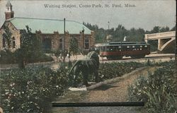 Waiting Station, Como Park Postcard