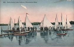 Yacht Docks, Lake Calhoun Postcard