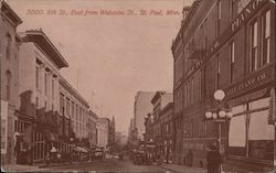 6th Street, East from Wabasha Street Postcard