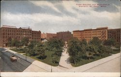 Park square and wholesale district Postcard