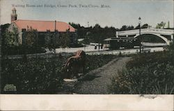 Waiting Room and Bridge, Como Park Postcard