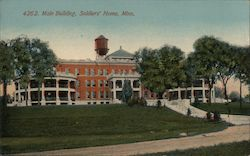 Main Building, Soldiers' Home Postcard