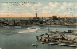 Upper St. Anthony Falls, South End Nicollet Island Postcard