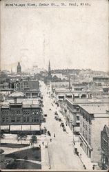 Bird's-eye View of Cedar Street Postcard
