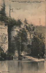 Head of Tunnel at Tunnel Mill, Spring Valley, Minn. Postcard
