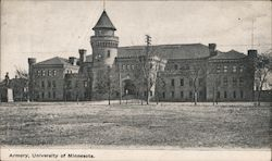Armory, University of Minnesota Postcard