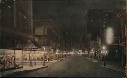 Sixth Street at Night Postcard