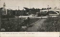 Station and Entrance, Como Park Postcard