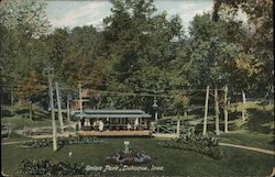 Union Park, Dubuque, Iowa. Postcard