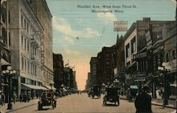 Nicollete Ave., West from Third St. Postcard