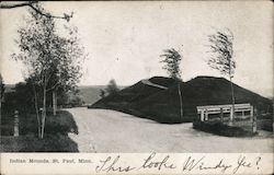Indian Mounds Postcard