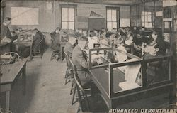 Advanced Department, Barry's Telegraph Institute Postcard