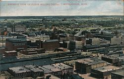 Birdseye View of Flour Milling District Postcard