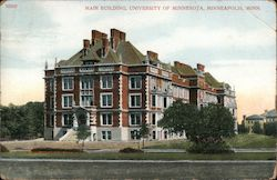 Main Building, University of Minnesota Postcard