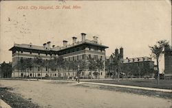 City Hospital, St. Paul. Minn. Postcard