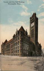 County and City Building Postcard