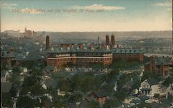 High Bridge and City Hospital Postcard