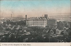 A view of City Hospital Postcard