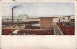 Aerial Bridge and Part of Wholesale Section Postcard