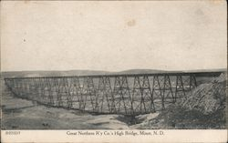 Great Northern Railroad Company's High Bridge Postcard