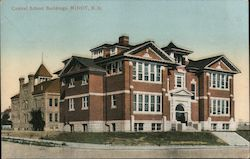 Central School Buildings Postcard