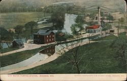 City Water Pumping Station Postcard