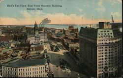 Bird's Eye View, East from Majestic Building Postcard