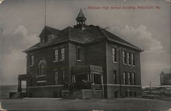 Madison High School Building Postcard