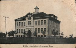 Public High School Postcard