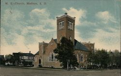 M.E. Church, Madison, S.D. Postcard