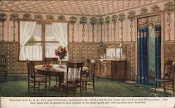 Dining Room Wallpaper - Remien & Kuhnert Company Postcard