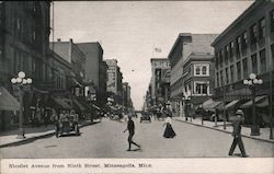 Nicollet Avenue from Ninth Street, Minneapolis, Minn.