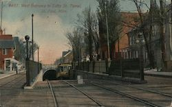 West Entance to Selby St. Tunnell Postcard