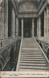 Stairway to Senate Chamber, State Capitol Building Postcard