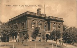 Public Library & City Hall Postcard