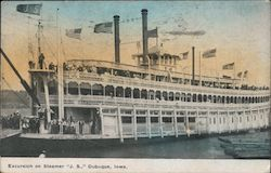 "Excursion on Steamer ""J.S."" Postcard"