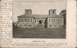 Stratford Hall - Lee Birthplace Memorial Souvenir Postcard