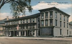 Montpelier House, with Annex on Right Postcard