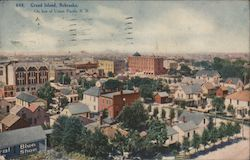 Birds-Eye View of Grand Island, On the Line of Union Pacific Railroad