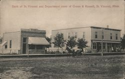Bank of St. Vincent and Department Store of Green & Russell Postcard