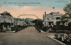 Beautiful Residence District Postcard
