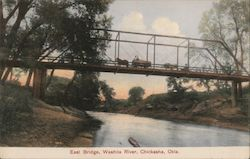 East Bridge, Washita River Postcard