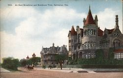 An East Broadway and Residence View Postcard