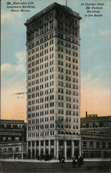 Amicable Life Insurance Building - 22 Stories, Tallest in the South Postcard