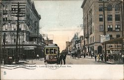 Main Street Looking North from Texas Avenue Postcard