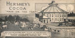 "Hershey's Cocoa ""Made on the farm"" Postcard"