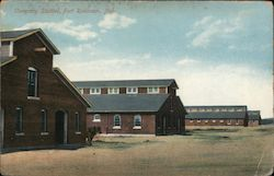 Company Stables, Fort Robinson, Neb. Postcard