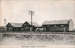 Burlington Depot Postcard