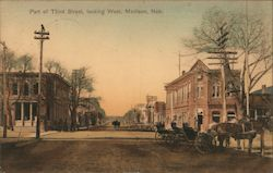 Part of Third Street, Looking West Postcard