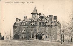 Merrill Hall, Doane Collge Postcard